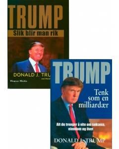 """Bokpakke Donald Trump: """"Tenk som en milliardær"""" og """"Slik blir man rik"""""""